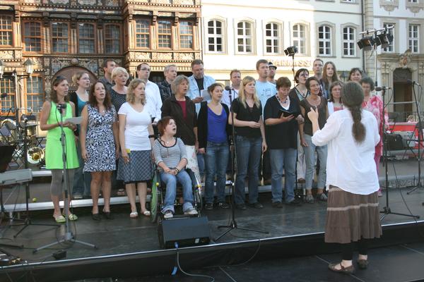 Im Rahmen der Feierlichkeiten zum XX-jährigen Bestehens des KCV konnte man uns auf dem Marktplatz Hildesheims hören.